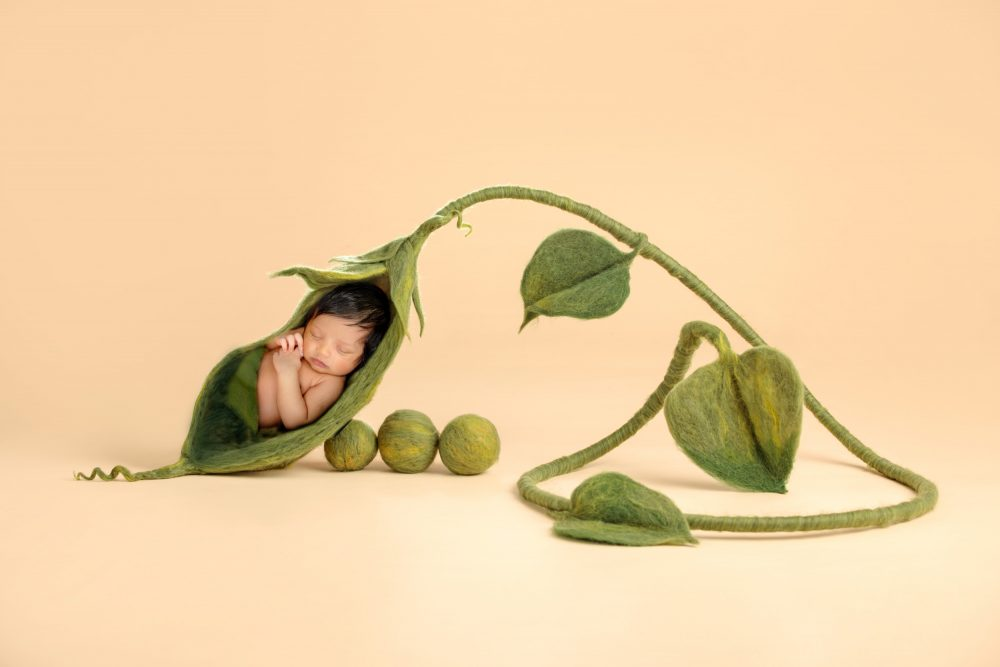 Newborn Pea in a Pod