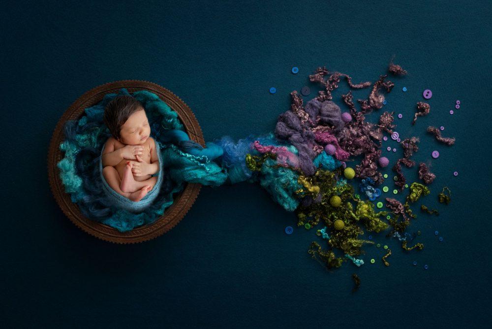 Newborn rainbow baby