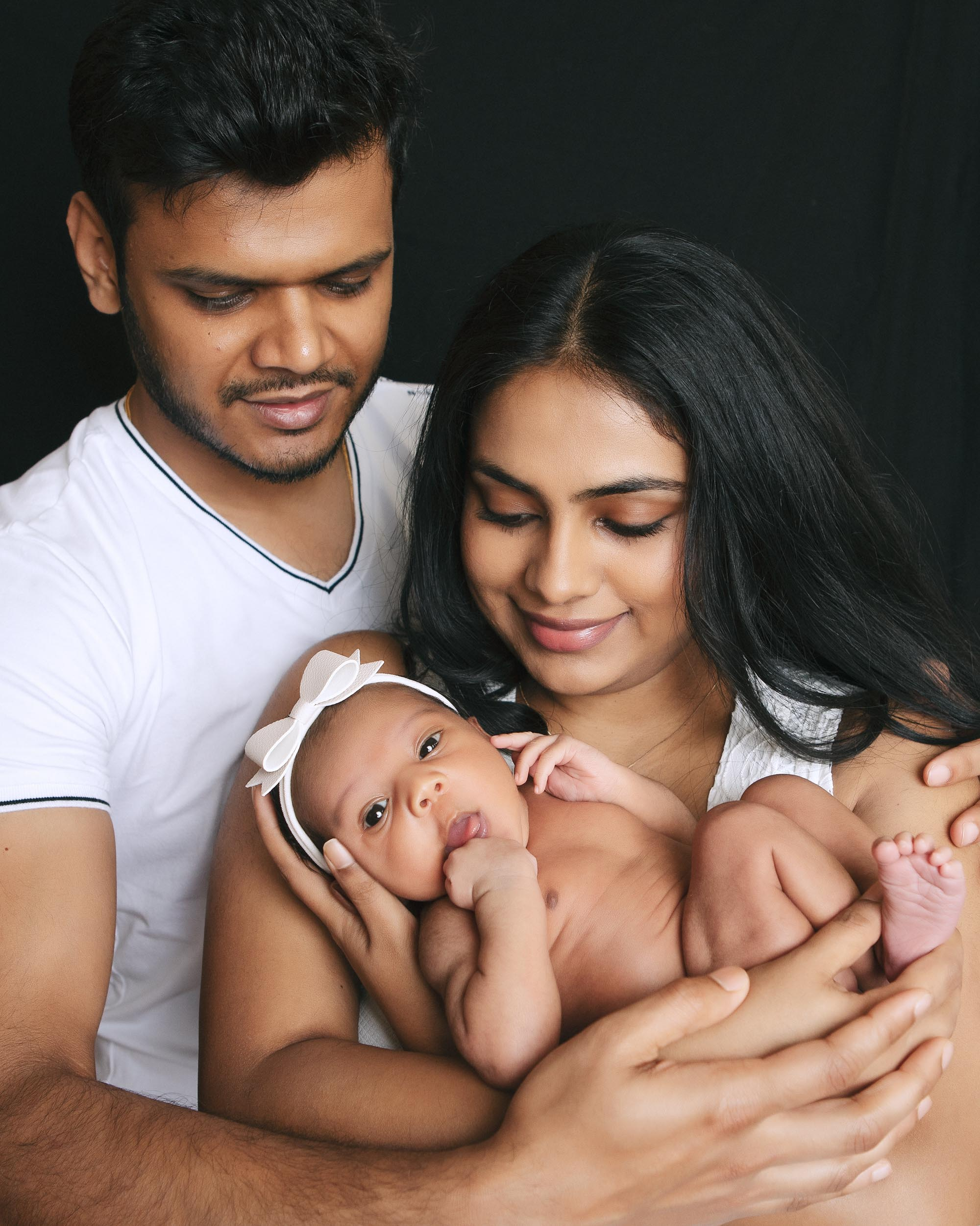 Newborn and family photograph