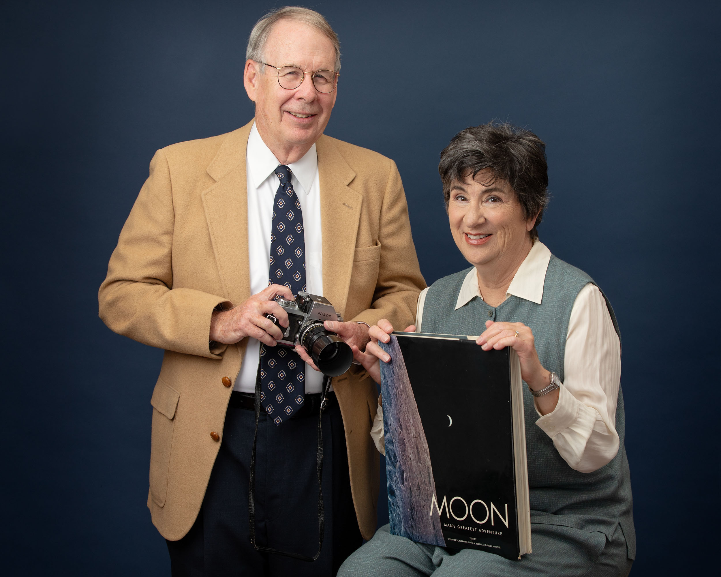 Family photo of a couple who worked at Nasa.