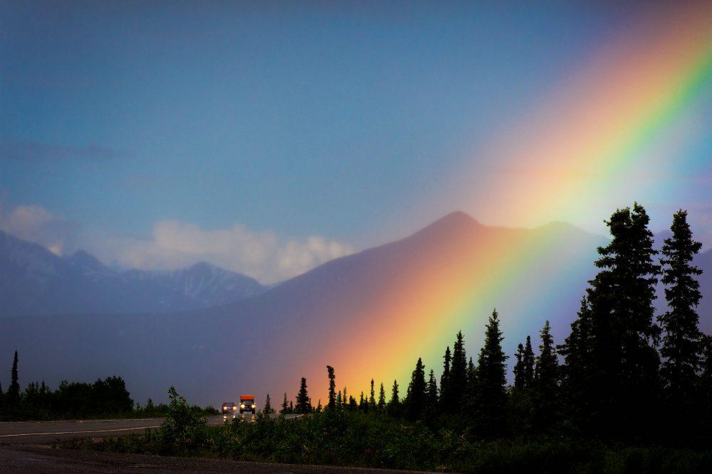 Wall art, Alaska rainbow