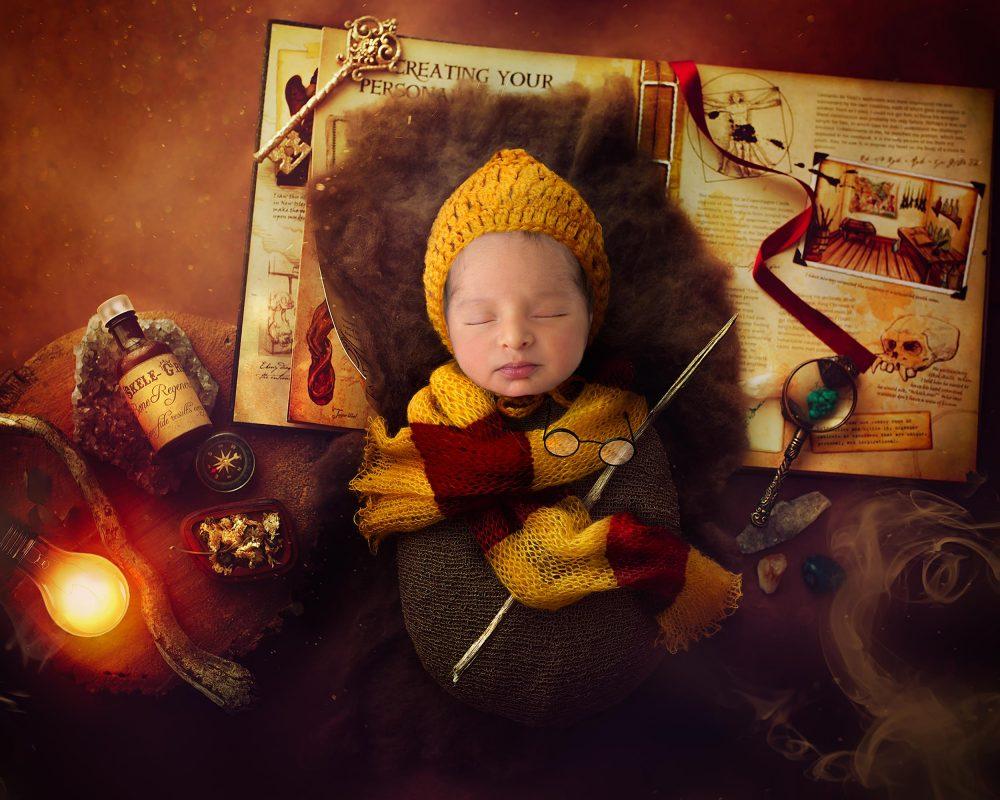 harry potter newborn photo
