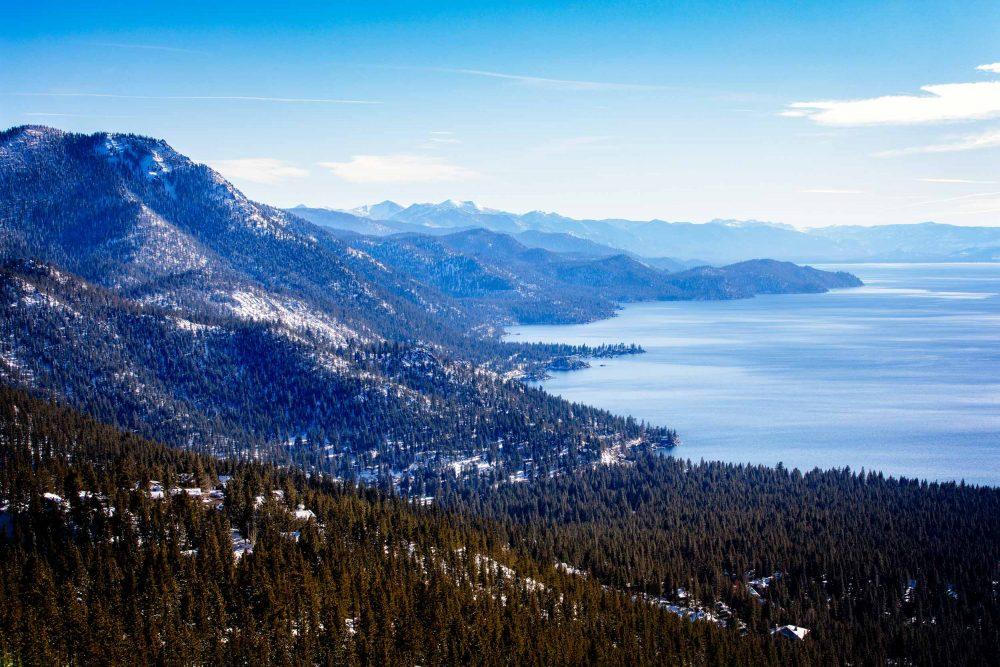 Lake tahoe at sundown