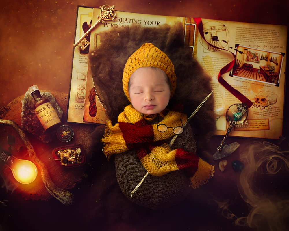 harry potter newborn photo